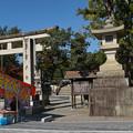 Photos: 多賀大社前にて
