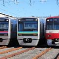 写真: 京成3000形 3027F・千葉NT鉄道9200形 9201F・京急新1000形 1025F