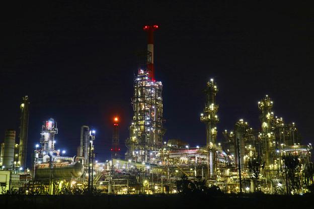 写真: 四日市工場夜景