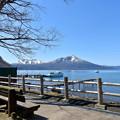 写真: 綻藍初春的支芴湖