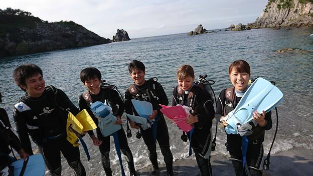式根島で体験ダイビング