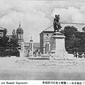 近衛歩兵一二連隊と北白川宮銅像