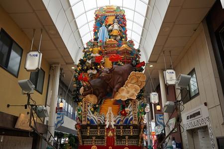 博多祇園山笠 2017年 飾り山 上川端通 決戦倶利伽羅峠 (3)