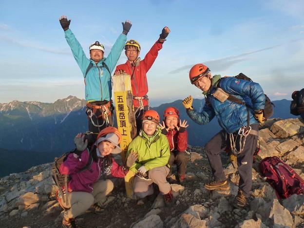 日本の山 剱岳を目指す!! 唐松岳から五竜岳 五竜岳頂上から剱岳