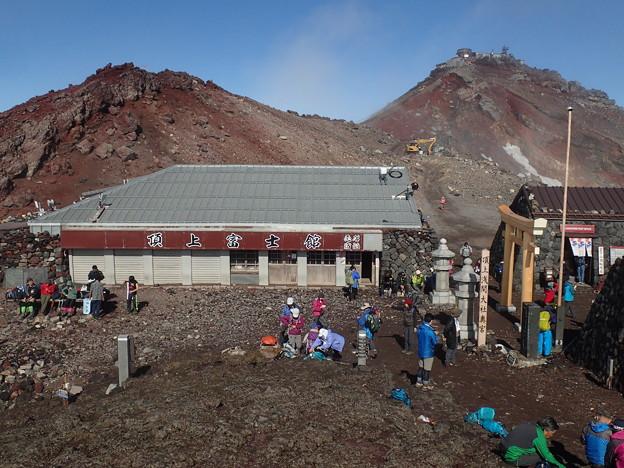 富士宮口頂上と剣ヶ峰