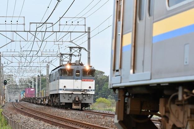 貨物列車 (EF652090) を撮りたかった