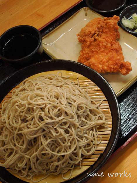 ざる蕎麦 with 山賊焼き