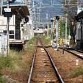 写真: 線路は続くよ何処までも