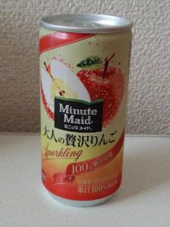 【ドリンク感想】『コカ・コーラ社 ミニッツメイド 大人の贅沢りんご』を飲む。