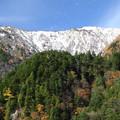 高瀬渓谷の雪山