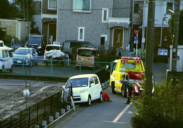 今朝の自宅前の事故