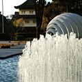 噴水と巽櫓