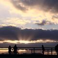 写真: 雲間