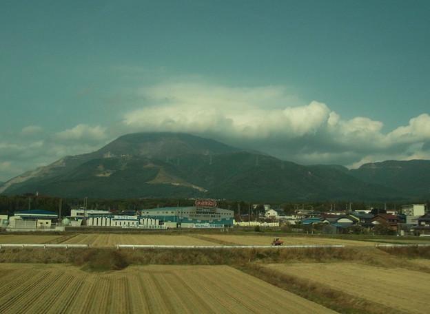 写真: 伊吹山で発達した雲