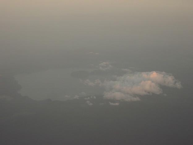 十和田湖でできた?雲