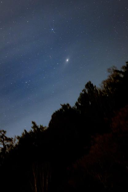 写真: 黒部峡谷に落ちるアンドロメダ大星雲