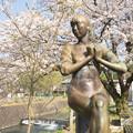 シャツブラウスと桜