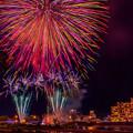 写真: river side (firework)