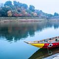 写真: 球磨川と人吉城址