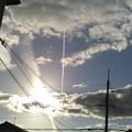 なぁ~んだ飛行機雲やん。。。