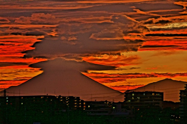 Photos: 富士怒る。