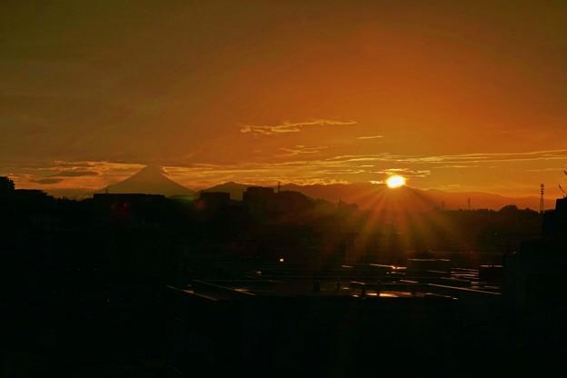 写真: 日没。