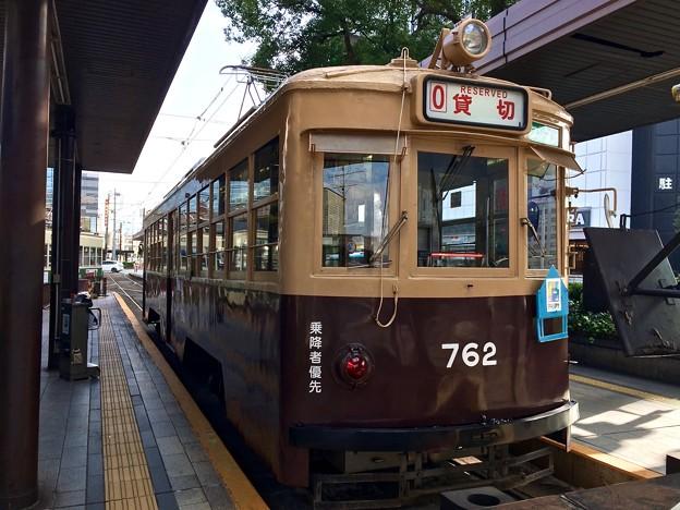 広島電鉄 750形 762号 広島市南区松原町 広島駅電停 2016年11月29日