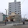 時雨寿司 解体工事 広島市南区的場町2丁目 大正橋交差点 2014年2月17日