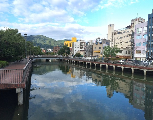 堺川 花見橋 呉市中央3丁目 五月橋から 2016年8月27日