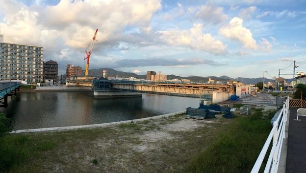 東大橋 架替工事 平成20年代後半 竣工予定 広島市南区南蟹屋1丁目 - 段原日出 猿猴川 2017年9月3日