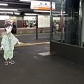 広島駅 在来線 1番線ホーム 広島市南区松原町 スマホアプリ 舞台めぐり AR撮影 2016年8月11日