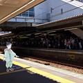 Photos: 広島駅 在来線 2番線ホーム 広島市南区松原町 スマホアプリ 舞台めぐり AR撮影 2016年8月12日
