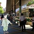 Photos: 広島電鉄 広島駅 広島市南区松原町 スマホアプリ 舞台めぐり AR撮影 2016年8月12日