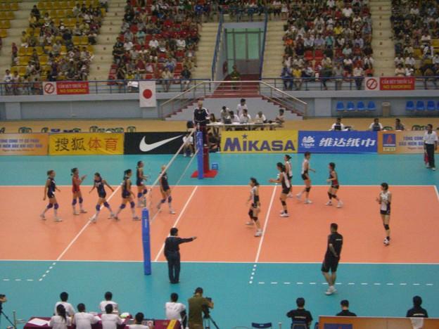 写真: 03女子バレー・アジアカップ・日本代表