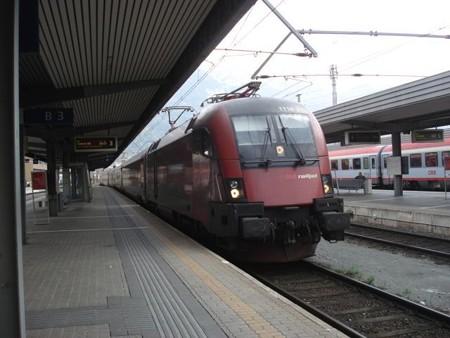 チューリッヒ行きRailJet(インスブルック駅)