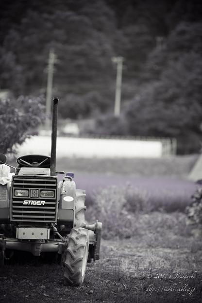 写真: 農機具