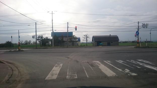 国道12号線との交差点 三笠市岡山