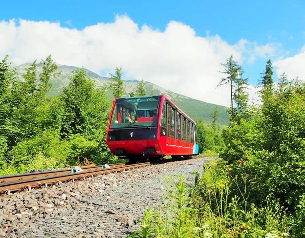 ケーブルカー、スロヴァキア Funicular to Hrebienok