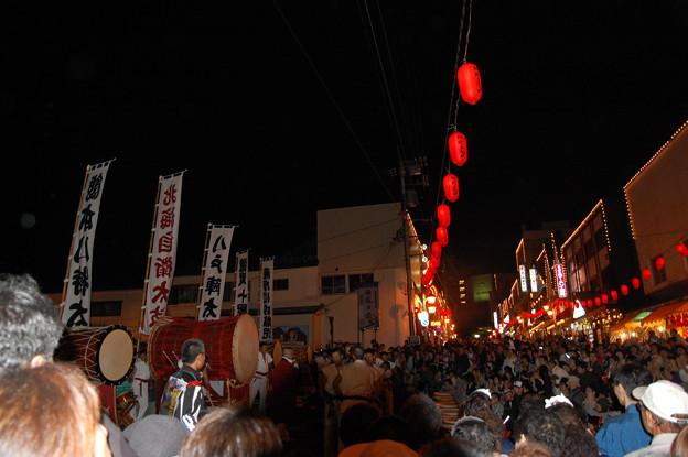 登別地獄祭りの太鼓ステージ
