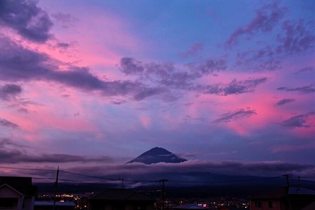 8月4日富士宮市からの夕方富士山~ 久しぶりのような~少し焼けました(^ ^)