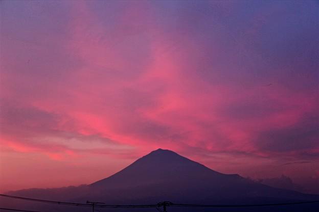 9月14日富士宮市からの夕方富士山~ 今日も焼けました!妖艶(^ ^)