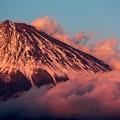 12月1日富士宮からの夕方富士山~ 紅富士!