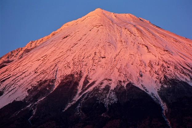 1月13日富士宮からの夕方富士山~ 今日はピンク!