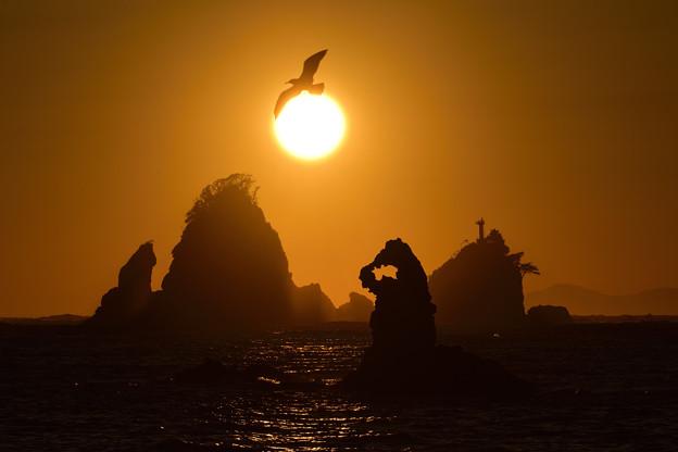 田子の夕日