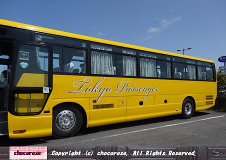 バスツアーのバスは意外にも大型