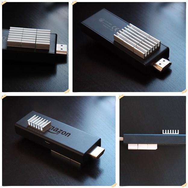 2017.07.14 机 Fire TV Stick (New モデル)に放熱板