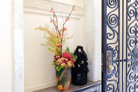 2017.10.30 ベーリック・ホール Halloweenの玄関 生花