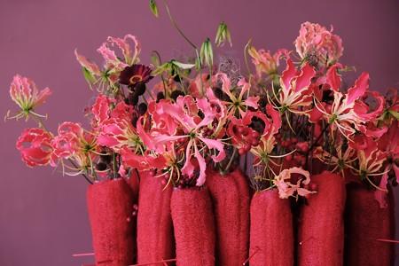 2017.12.12 山手西洋館 ベーリック・ホール 世界のクリスマス オランダ 書斎の花