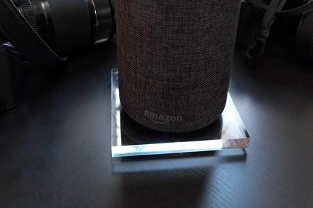 2012.12.13 机 Amazon Echo アクリル板とゴムシート