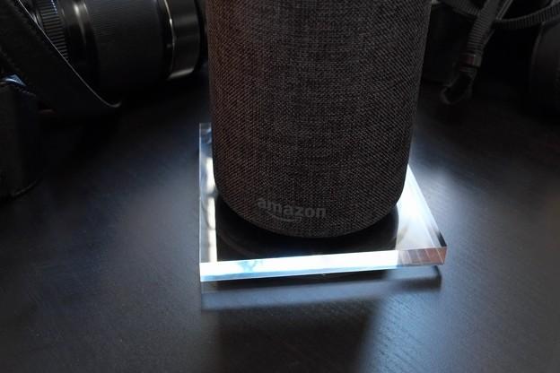2017.12.13 机 Amazon Echo アクリル板とゴムシート